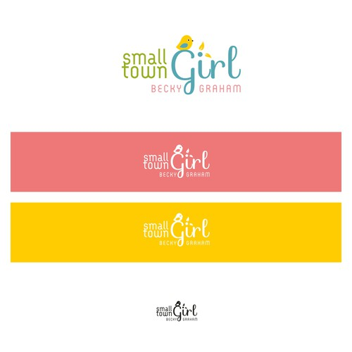 Create a blog image for a small town girl who points/encourages people in their relationship God