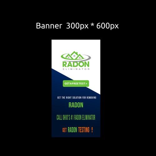 Banner ad concept for Radon Eliminator
