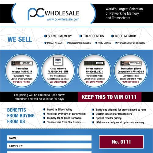 Flyer for a PC-Wholesale.com