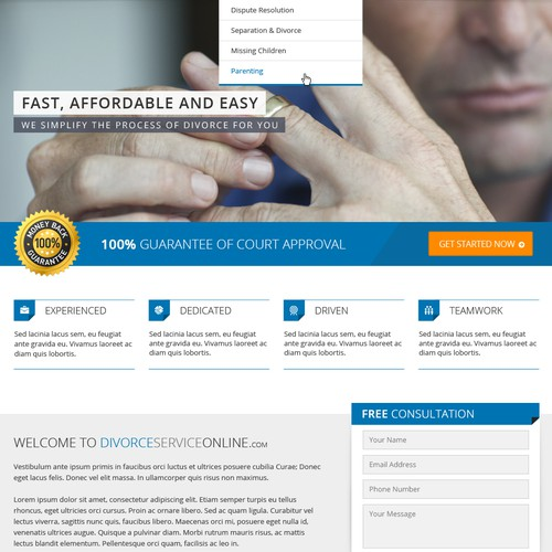 Divorce ServiceOnline Website Design