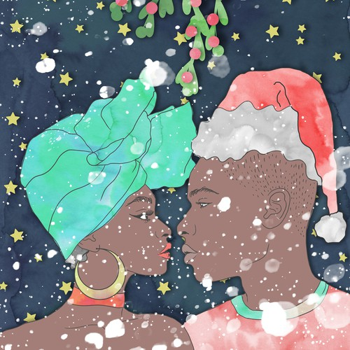 African American Christmas Illustration