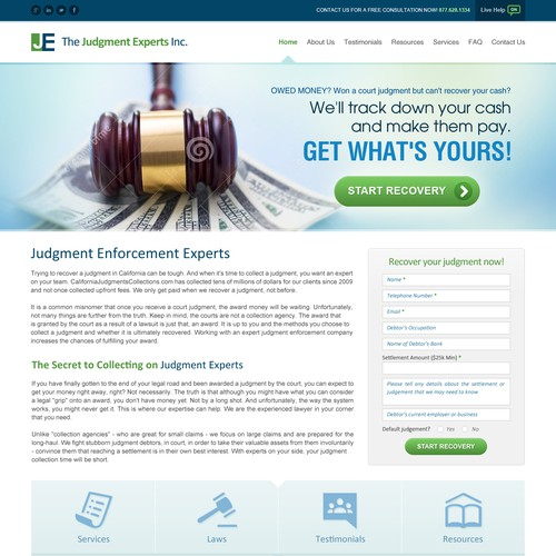 Website Design For Judgment Enforcment