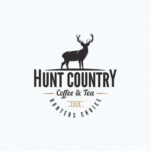 Vintage logo for a hunters coffee house