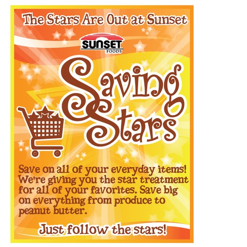 Sunset's Saving Stars - poster design!
