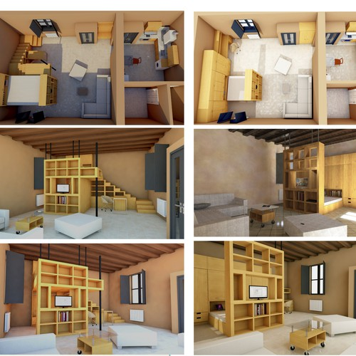 Interior furnishing. 2 options
