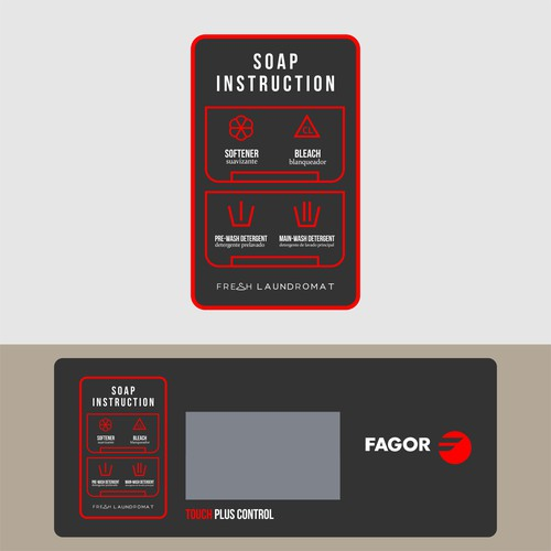 Sticker Design For Washing Machine FRESH LAUNDROMAT