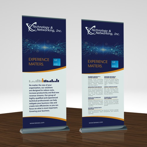 Technology & Networking Pop Up Banner