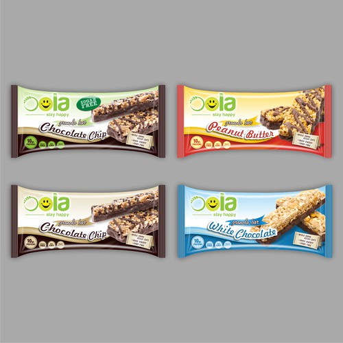 OOLA - PROTEIN BAR WRAPPERS DESIGN