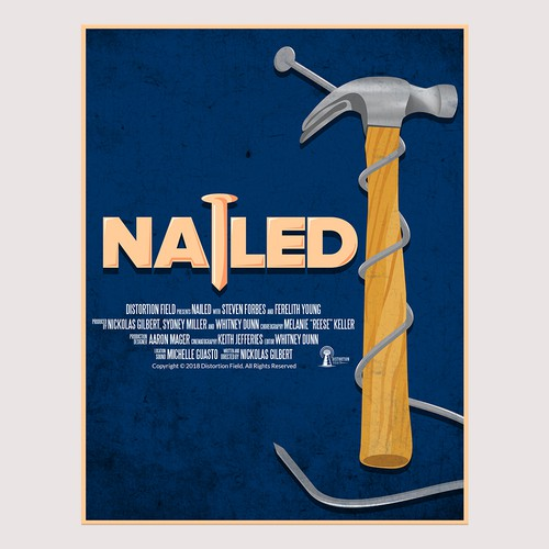 "Design a poster for the short film ""Nailed"""