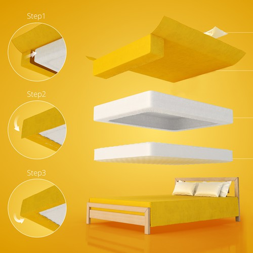 Graphic design for bedding company