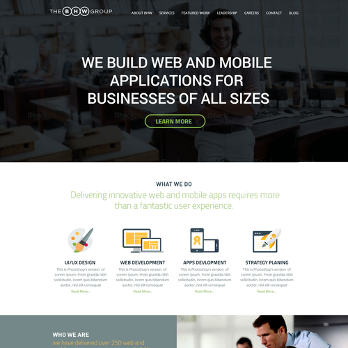 New website design for web and mobile app company