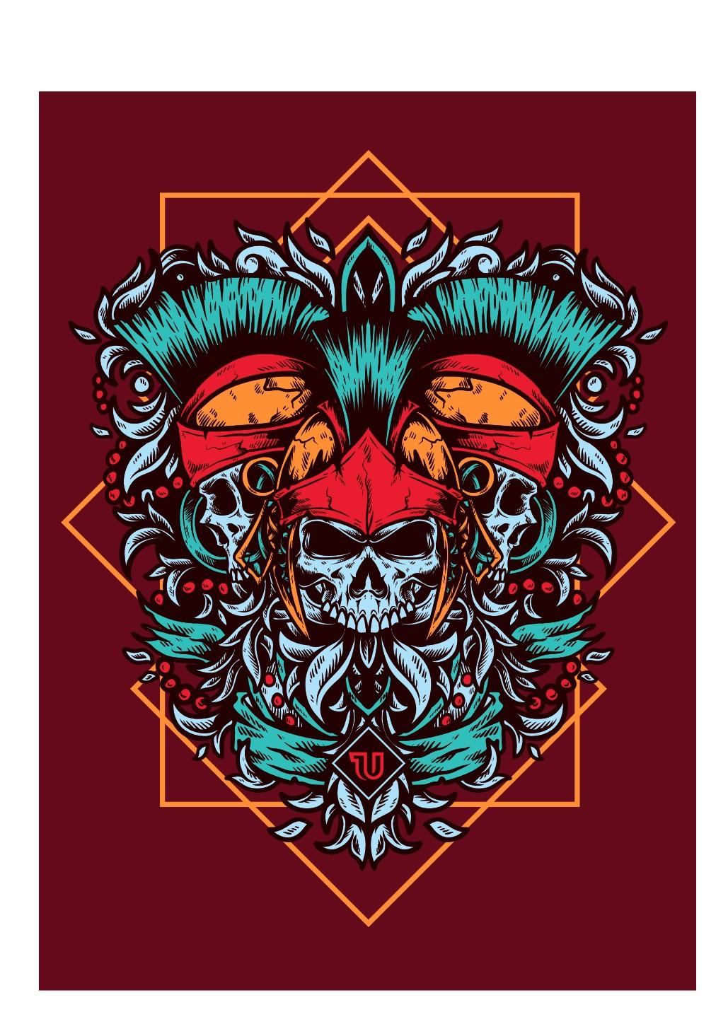 T-shirt Illustration for Urmou Clothing