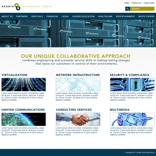 Create the next Web Page Design for Acadia Technology Group
