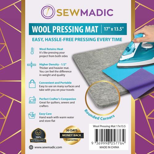 Wool Pressing Mat Sticker Design