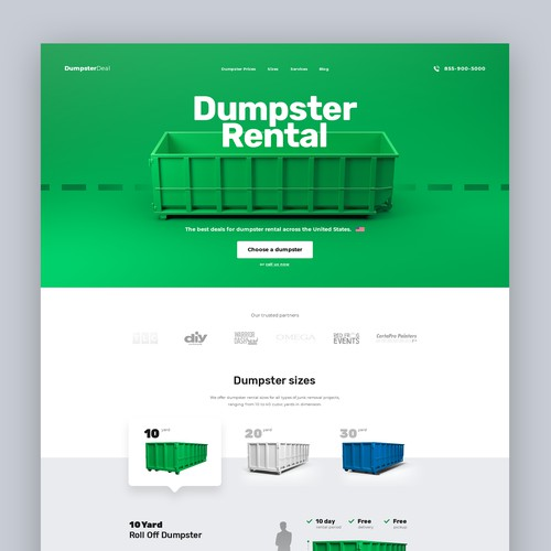 Dumpster Rental Website Concept