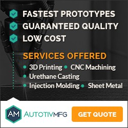 Trusty Banner ad for 3D Printing Services Startup