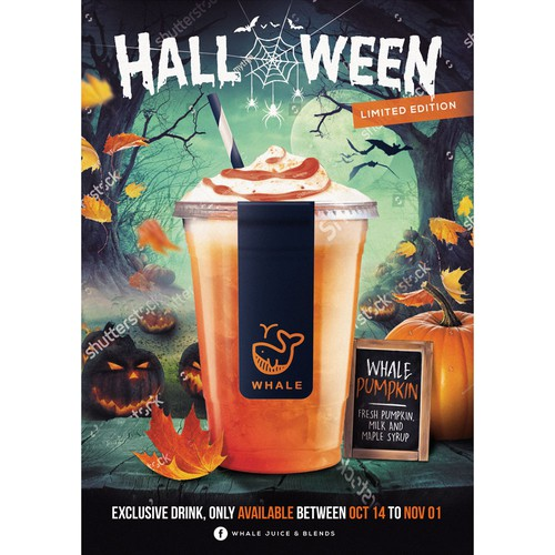 Whale Juice - Poster for Halloween