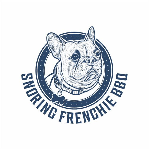 Bold logo for Snoring Frenchie BBQ