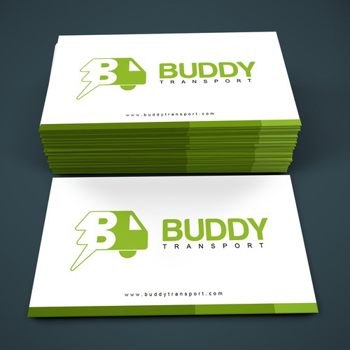 Bold Green Typo combination-mark logo and business card
