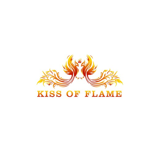 """Logo design for """"Kiss of Flame"""""""