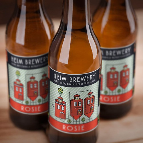 Label design for Heim Brewery
