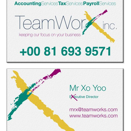 Help TeamWorks, Inc. with a new logo and business card
