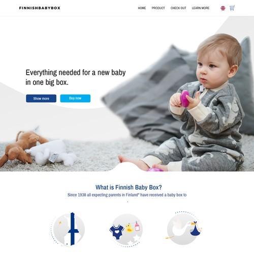 Finnish Baby Box website