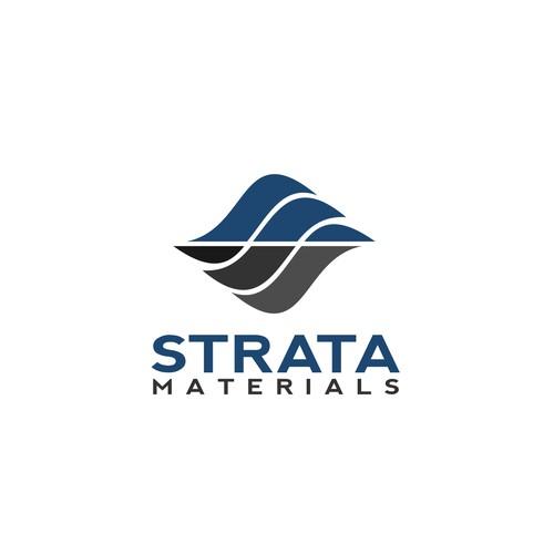 Logo concept for Strata Materials