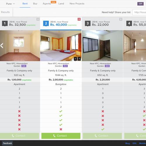 Housing.com; UI/UX Design