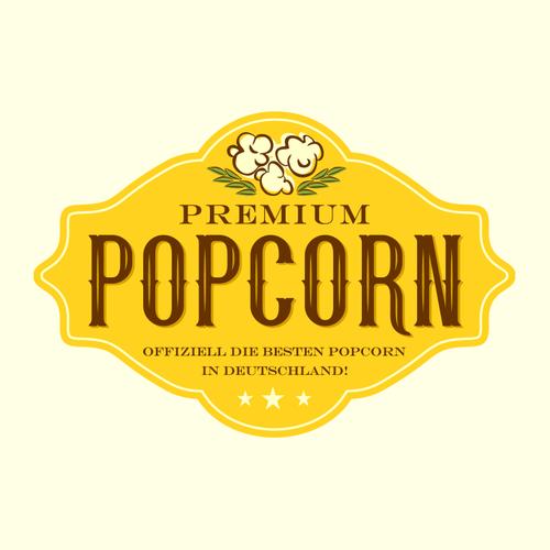 Logo for premium popcorn