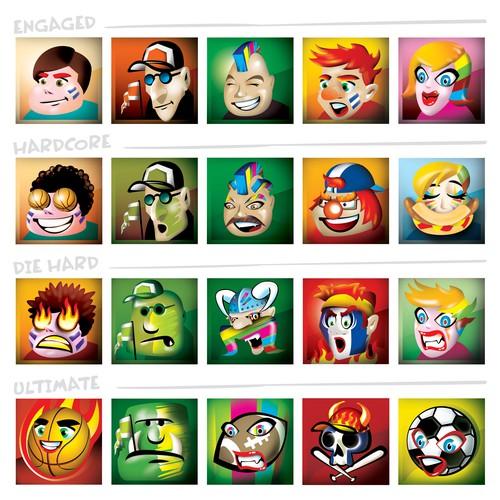 Create fun avatars for sport fans