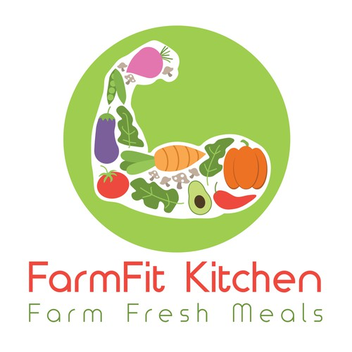 FarmFit Kitchen Logo Design