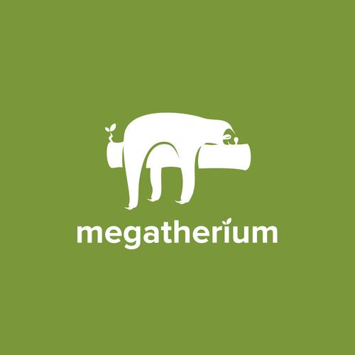Logo: Sloth - flat lowpoly modern