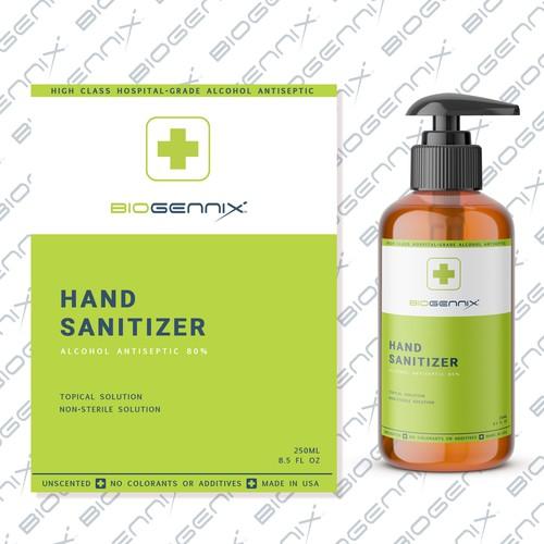 Sanitizer label design
