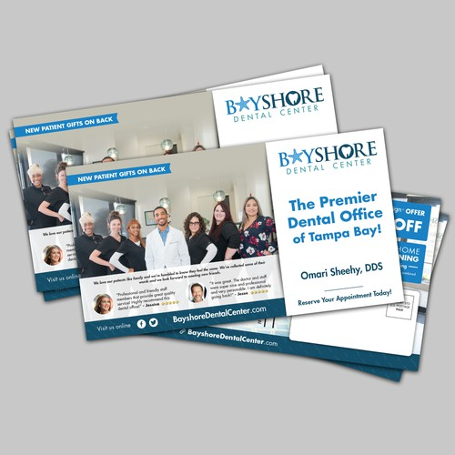 Postcard Design for Bayshore Dental Center