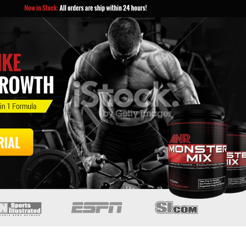 Landingpage for Bodybuilding-Supplement