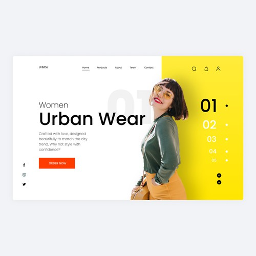 A clothing ecommerce brand website