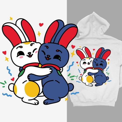 Bunny Maneki Neko Hugg