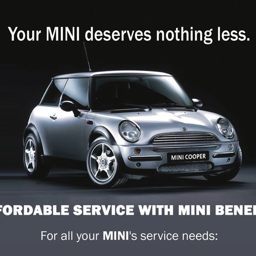 Flyer design for Mini of Montgomery