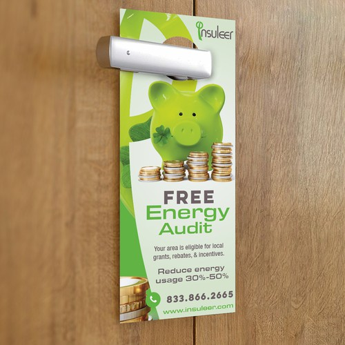 Super Engaging Door Hanger for an Energy Company, INSULeer