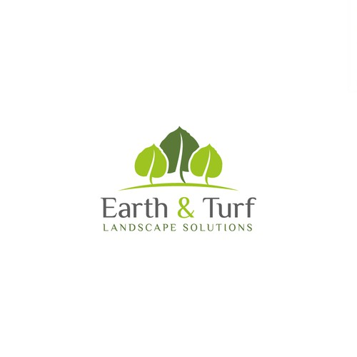 logo design for Earth & Turf, landscape Design