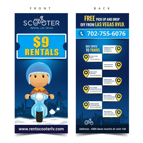 scooter rack card flyer