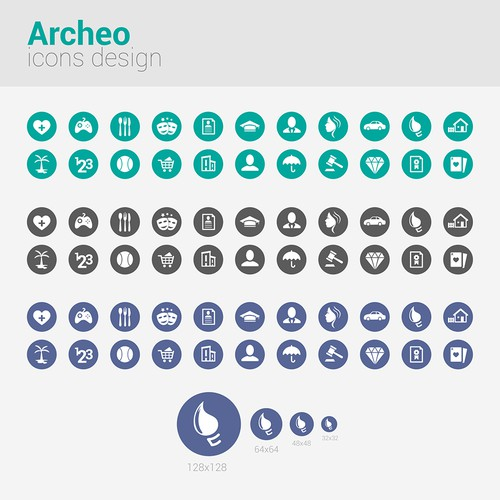 Archeo needs a new icon or button design