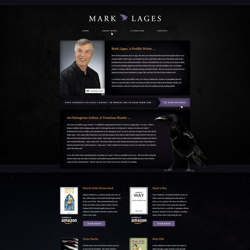 A Bold Design Concept for an Author
