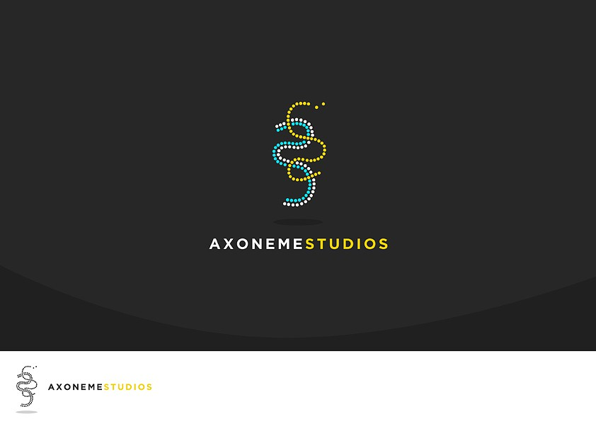 Create a crisp logo for a scientific 3D animation company