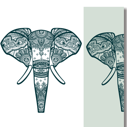 Art concept for yoga mat design