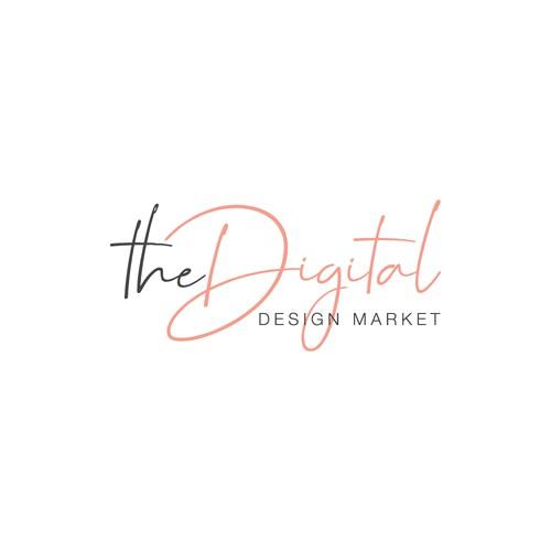 Femine logo concept for the digital market.