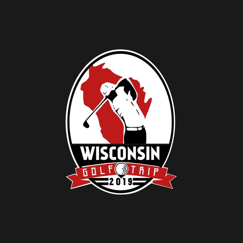Contest Finalist of Logo for Wisconsin Golf Trip