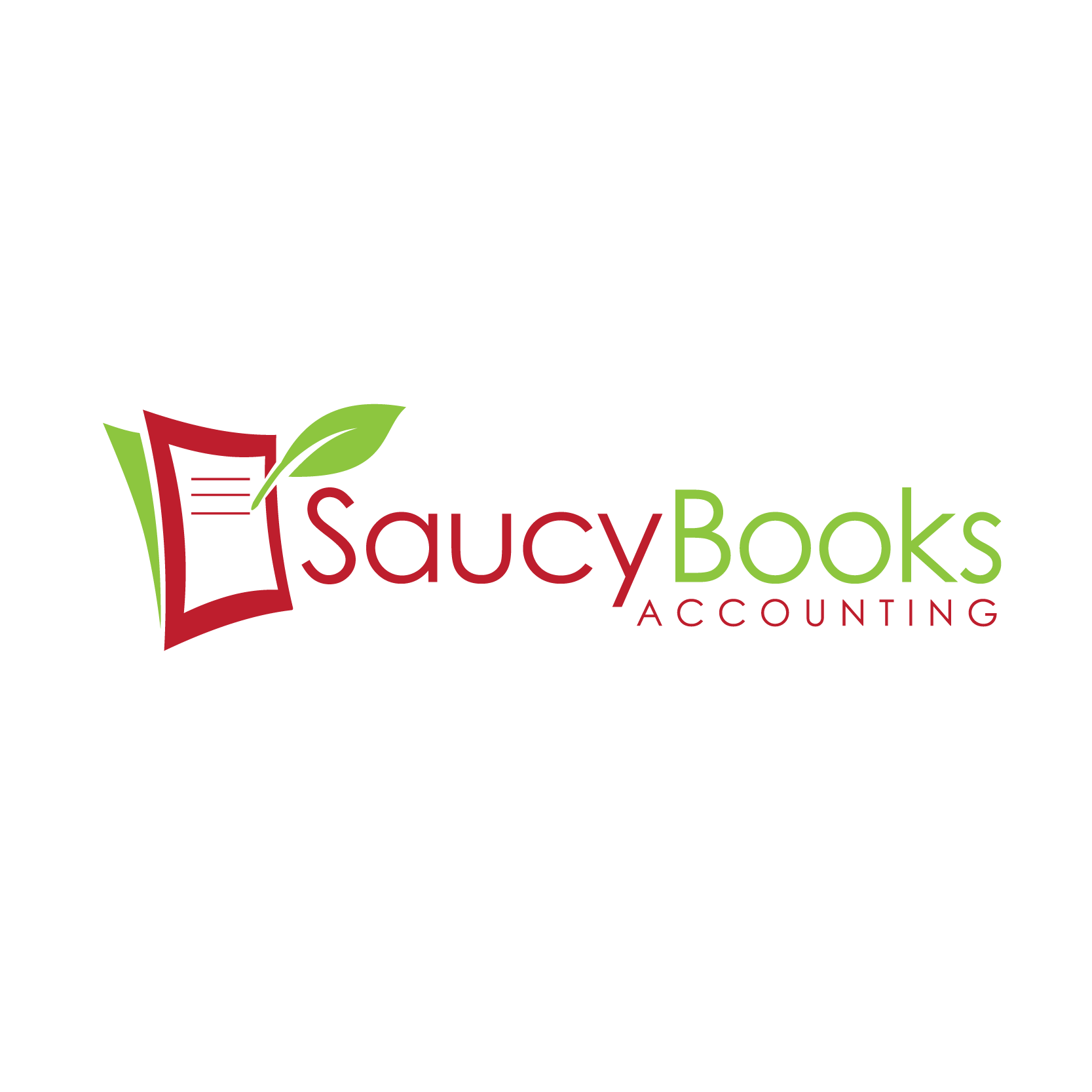 Create a logo for Saucy Books Accounting