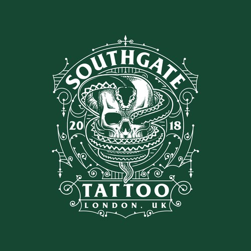 Vintage Shirt Design For Tattoo Shop